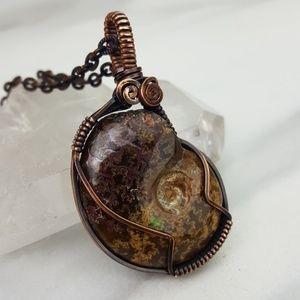 Positive Energy • Ammolite Copper Opal Necklace